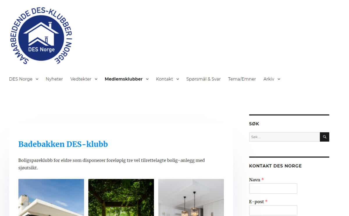 Ny webside til lokalklubbene